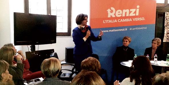 Le donne democratiche sostengono Matteo Renzi