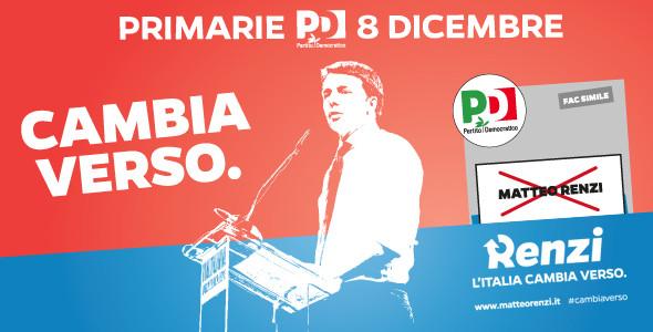 Con Matteo Renzi per un nuovo Pd, domenica 8 dicembre