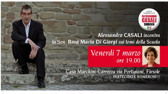 Incontro con Alessandro Casali a Fiesole sui temi della Scuola