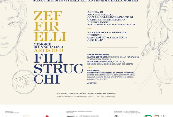 """""""Zeffirelli Filistrucchi. Memorie di un Sodalizio Artistico"""""""