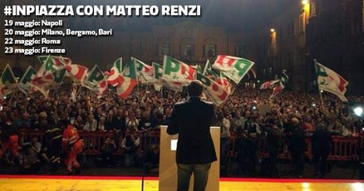 Venerdì chiusura della campagna elettorale per Nardella, con Renzi. Tutti in piazza Signoria!