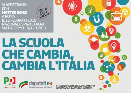 La Scuola che cambia, cambia l'Italia