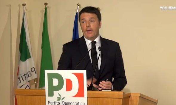 Renzi: stiamo restituendo speranza, orgoglio e passione. Pd smetta di guardarsi l'ombelico