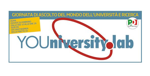 YOUniversity Lab: giornata di ascolto del PD su Università e Ricerca