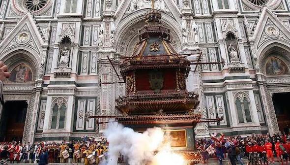 Firenze, Scoppio del Carro 2015