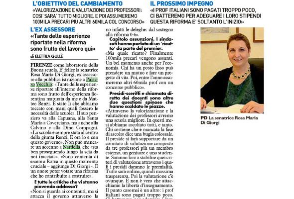 """«A Firenze la """"Buona Scuola"""" c'è già. E con ottimi risultati alla Pestalozzi»"""
