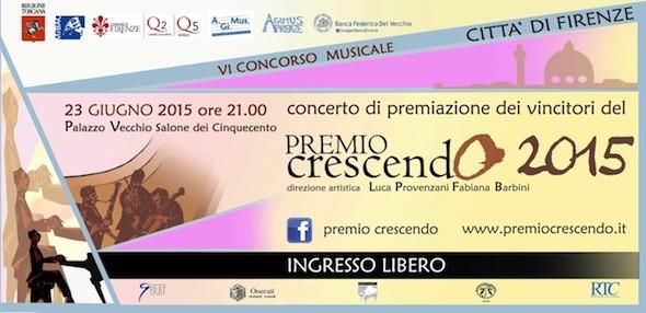 """#Firenze, sesta edizione del """"Premio crescendo-Città di Firenze"""""""