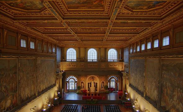 San Giovanni a Firenze, consegna del Fiorino d'Oro in Palazzo vecchio