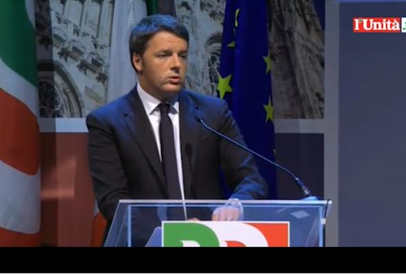 Renzi, l'intervento all'assemblea nazionale del Pd
