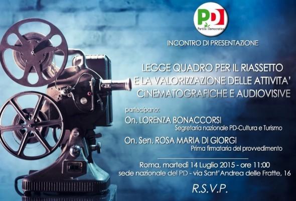 Presentazione del ddl Di Giorgi sul Cinema e sull'Audiovisivo presso la Sede Nazionale del PD
