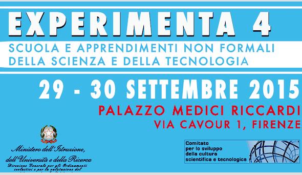 Experimenta 4: scuola e apprendimenti non formali della scienza e della tecnologia