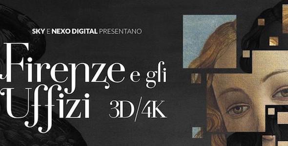 """Al cinema """"Firenze e gli Uffizi in 3D e 4K"""""""