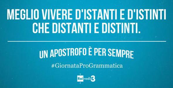 """21 ottobre, terza edizione """"ProGrammatica italiana"""""""