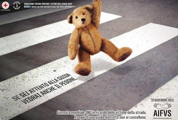 15 novembre, Giornata Mondiale del Ricordo delle Vittime della Strada