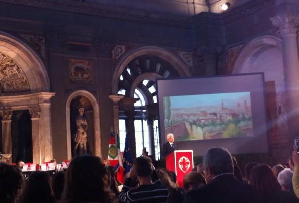 Mattarella a Firenze per la commemorazione dei 150 anni di Firenze Capitale