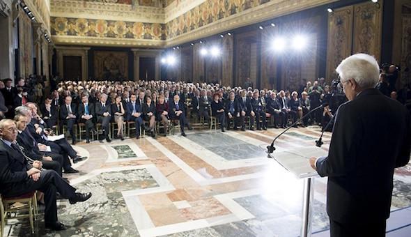Auguri di fine anno al Quirinale, il discorso del Presidente Mattarella ai rappresentanti delle Istituzioni
