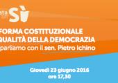 """Firenze, Circolo Arci Le Panche: """"Riforma Costituzionale e Qualità della Democrazia"""", ne parliamo con il sen. Pietro Ichino"""