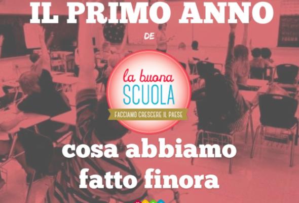 I primi 12 mesi di #LaBuonaScuola