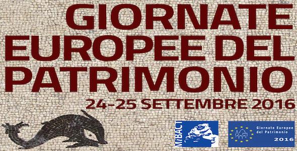 24-25 settembre: Giornate Europee del Patrimonio 2016