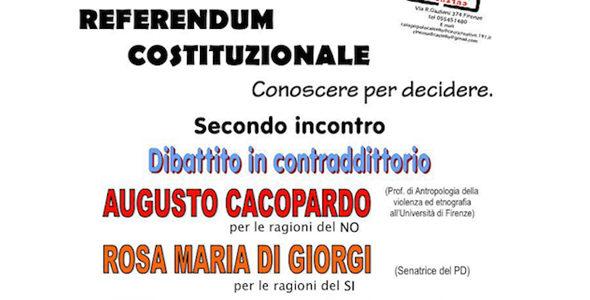 """Incontro """"Referendum Costituzionale, conoscere per decidere"""""""