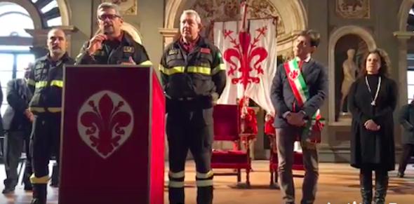 Fiorino d'oro ai vigili del fuoco di Firenze