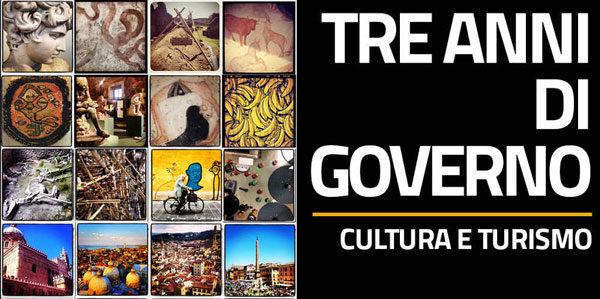 Tre anni di governo Cultura