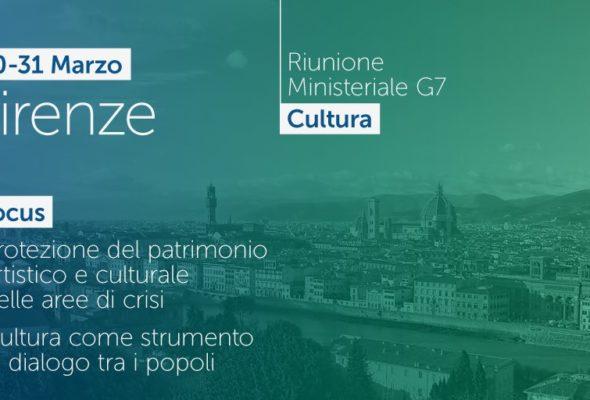 #G7Culture. Oggi a Firenze il primo summit internazionale sulla Cultura