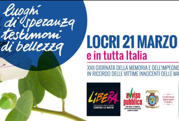 """21 marzo, """"primavera della verità e della giustizia sociale"""". Giornata della Memoria e dell'Impegno in ricordo delle vittime delle mafie"""