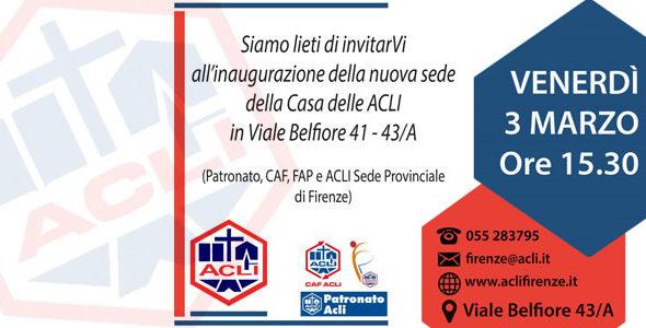 Firenze: inaugurazione nuove sedi Acli