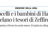 """Corriere della Sera: """"Bocelli e i bambini di Haiti svelano i tesori di Zeffirelli"""""""