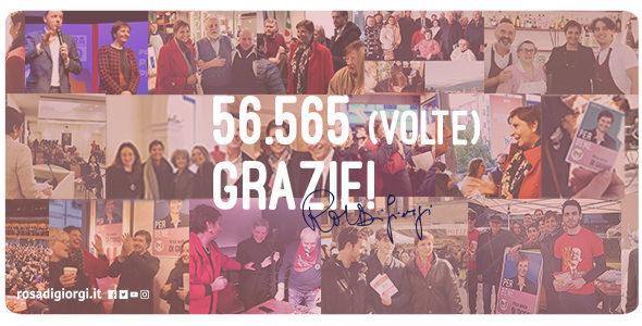 56565 (volte) grazie!