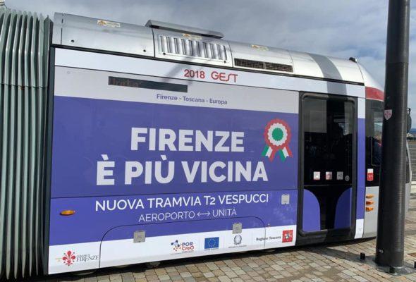 Tramvia Firenze. Inaugurata la Linea 2 T2 Vespucci per l'aeroporto