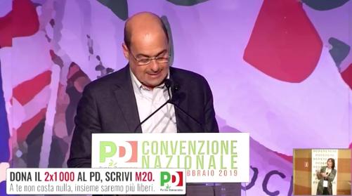 Convenzione Nazionale del PD: l'intervento di Nicola Zingaretti