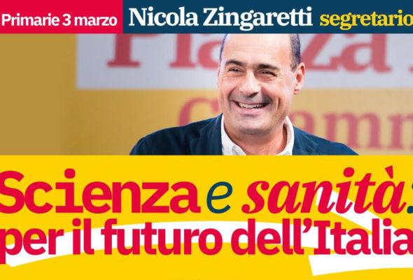 """Primarie. Dibattito con Nicola Zingaretti dal titolo """"Scienza e sanità: per il futuro dell'Italia"""""""