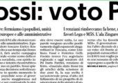 Parole Rossi importanti, avanti su strada dell'unità contro i populismi