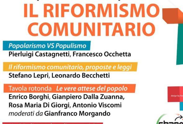 Riformismo comunitario: innovazione sociale e nuovo welfare