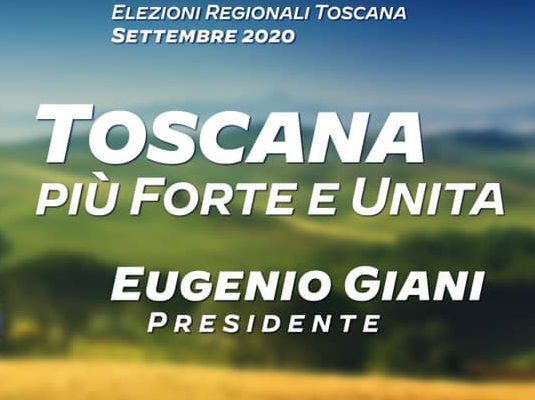 Il mio appello al voto per Giani presidente della Toscana